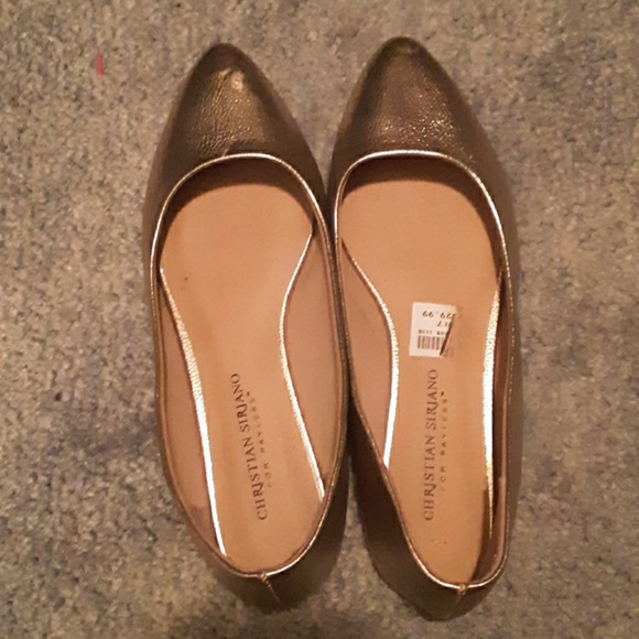 Christian Siriano Shoes - Gold flats